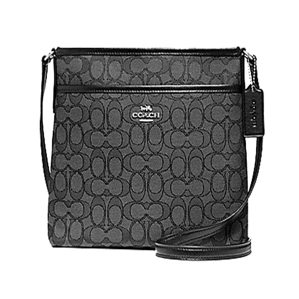 e9e523001a3cc Coach Outlined Zip File Crossbody (Black Grey)  Handbags  Amazon.com