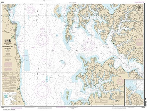 Paradise Cay Publications NOAA Chart 12266: Chesapeake Bay Choptank River and Herring Bay; Cambridge 35.4 x 47 (TRADITIONAL PAPER)