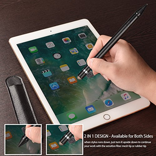 Qoosea [2 in 1] Stylus Pen for Touch Screen Active Capacitive Rechargeable Digital Fine Point Stylus Pen For iPad/iPhone / Samsung Galaxy Phone/Kindle / Fire HD & Android Tablets by Qoosea (Image #2)