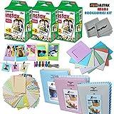 Xtech FujiFilm Instax Mini FILM Accessories Kit f/ Fujifilm Instax Mini 70 Mini 8 8+ 7s 90 25 Includes: 3 x Fujifilm Instax Mini Twin Pack (60 Instant Films) 3 Albums + Assorted Frames / Stickers