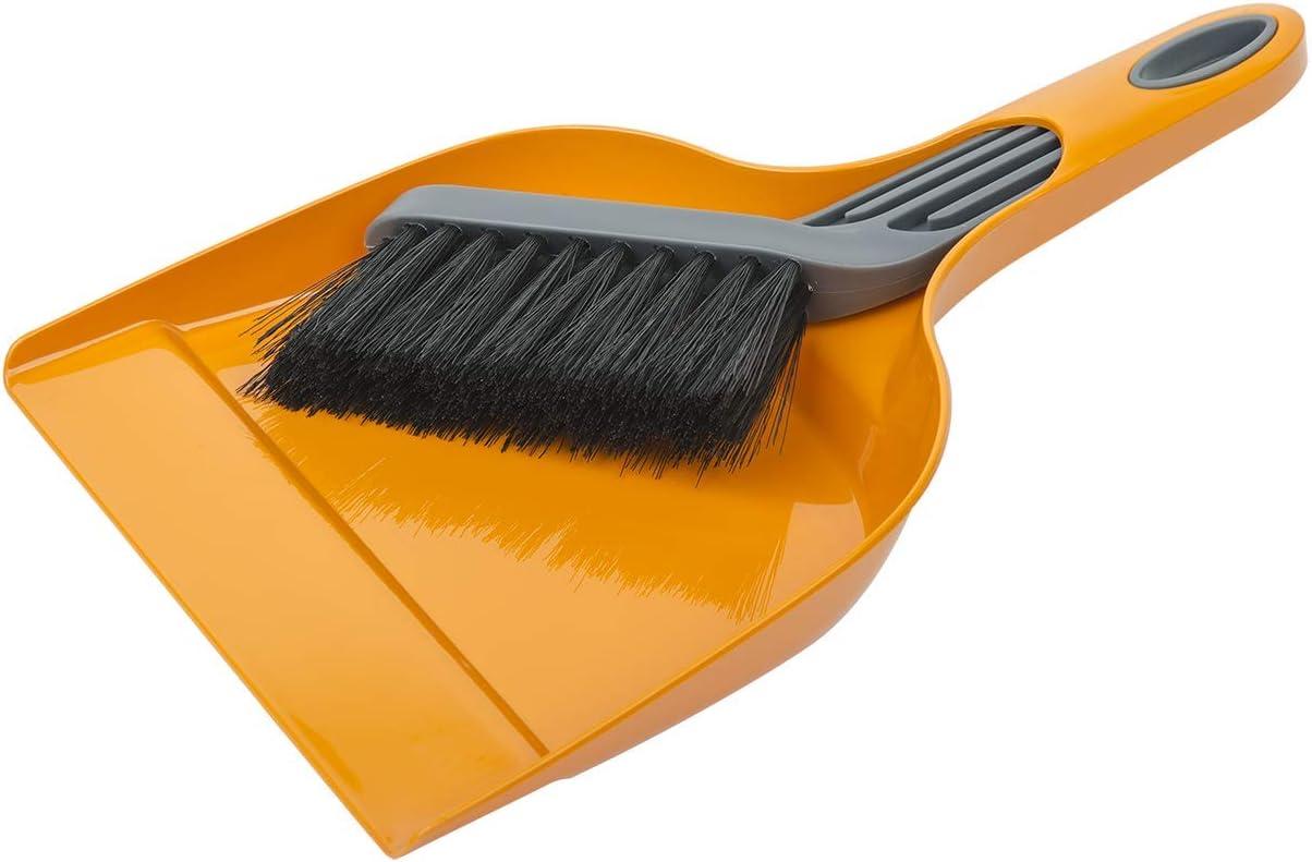 Ensemble pelle et balayette en plastique orange