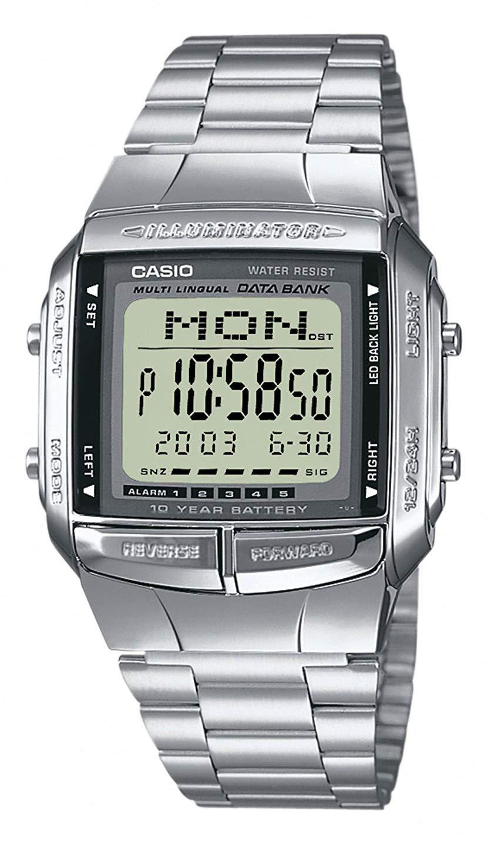 Reloj digital Casio DB-360N para hombres con pulsera de acero inoxidable product image