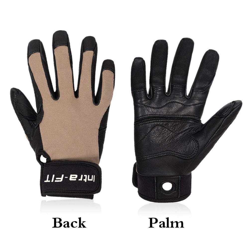 Durable Intra-FIT Climbing Gloves Rope Gloves,Perfect for Rappelling,Rock Climbing,Rescue,Adventure,Outdoor Sports Soft Comfortable,Improved Dexterity