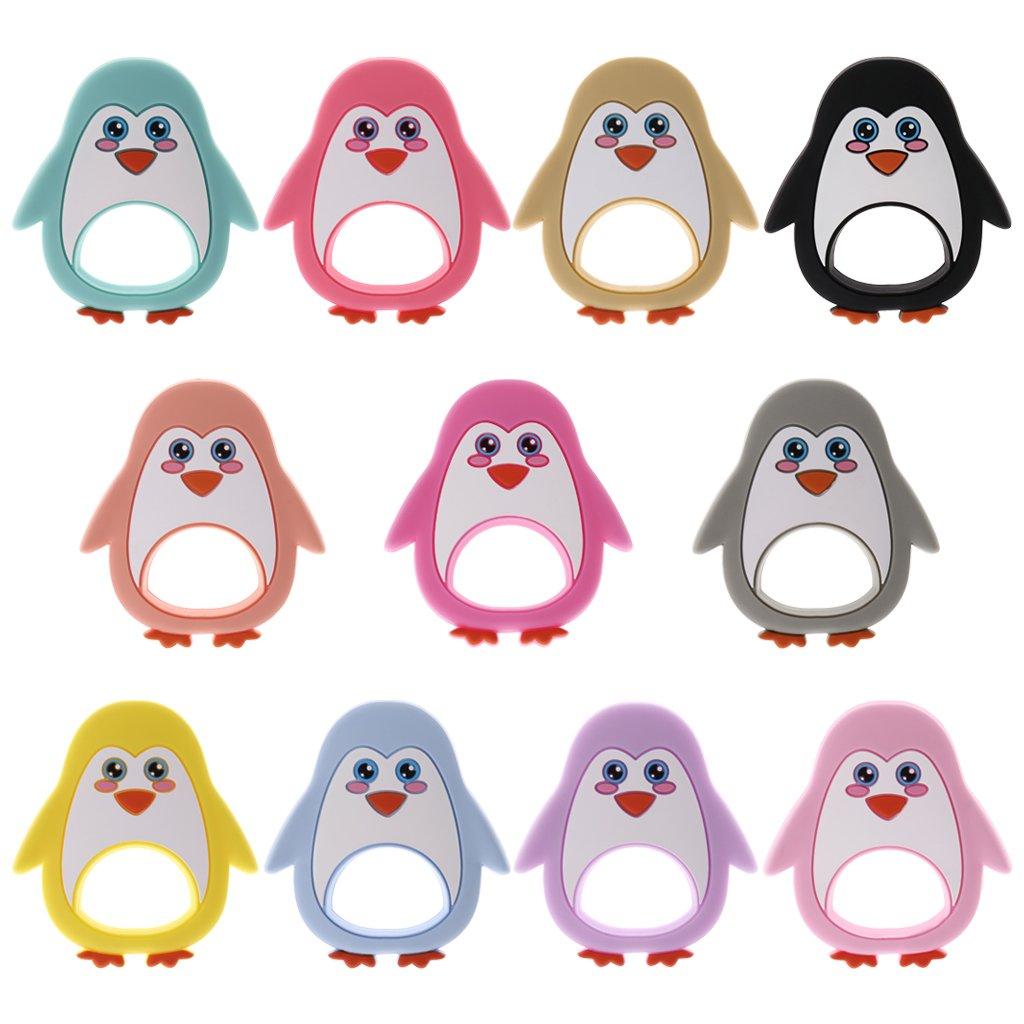 KINTRADE Bebé mordedor Chupete de Dibujos Animados pingüino ...