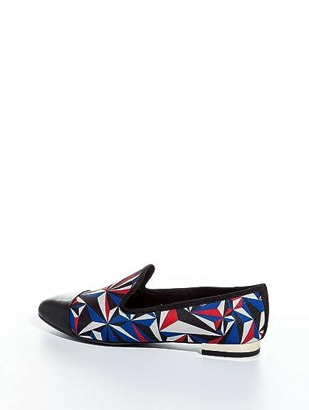 Chaussures United Nude Smokey Chrystal Rouge Bleu Femme Sabots cuir noir mat semelle foncée tFGy5qB