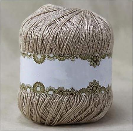 Hilo de ganchillo de encaje Hilo de algodón Hilo Algodón de verano Hilos finos para hilos de tejer a mano 21: Amazon.es: Hogar