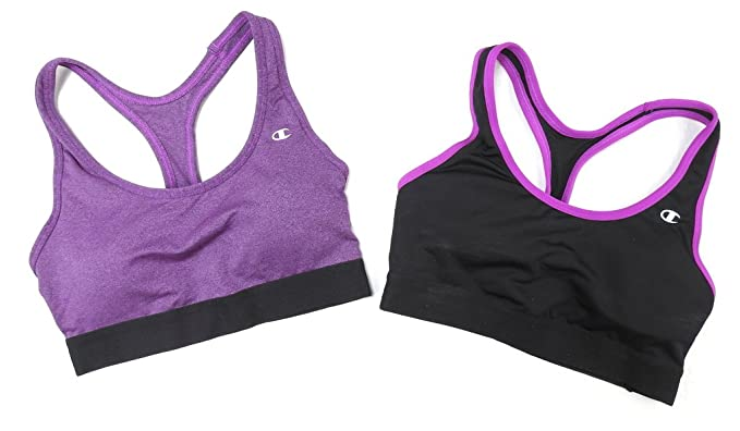 b96a5aaa72616 Image Unavailable. Image not available for. Color  Champion Womens Size  Small (2 Pack) Compression Sports Bras ...