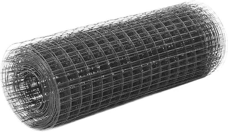vidaXL Grillage Métal Acier Revêtement PVC 10x0,5 m Carré ...
