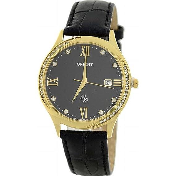 ORIENT Reloj DE Mujer Cuarzo 36MM Correa DE Cuero Caja DE Acero FUNF8003B0