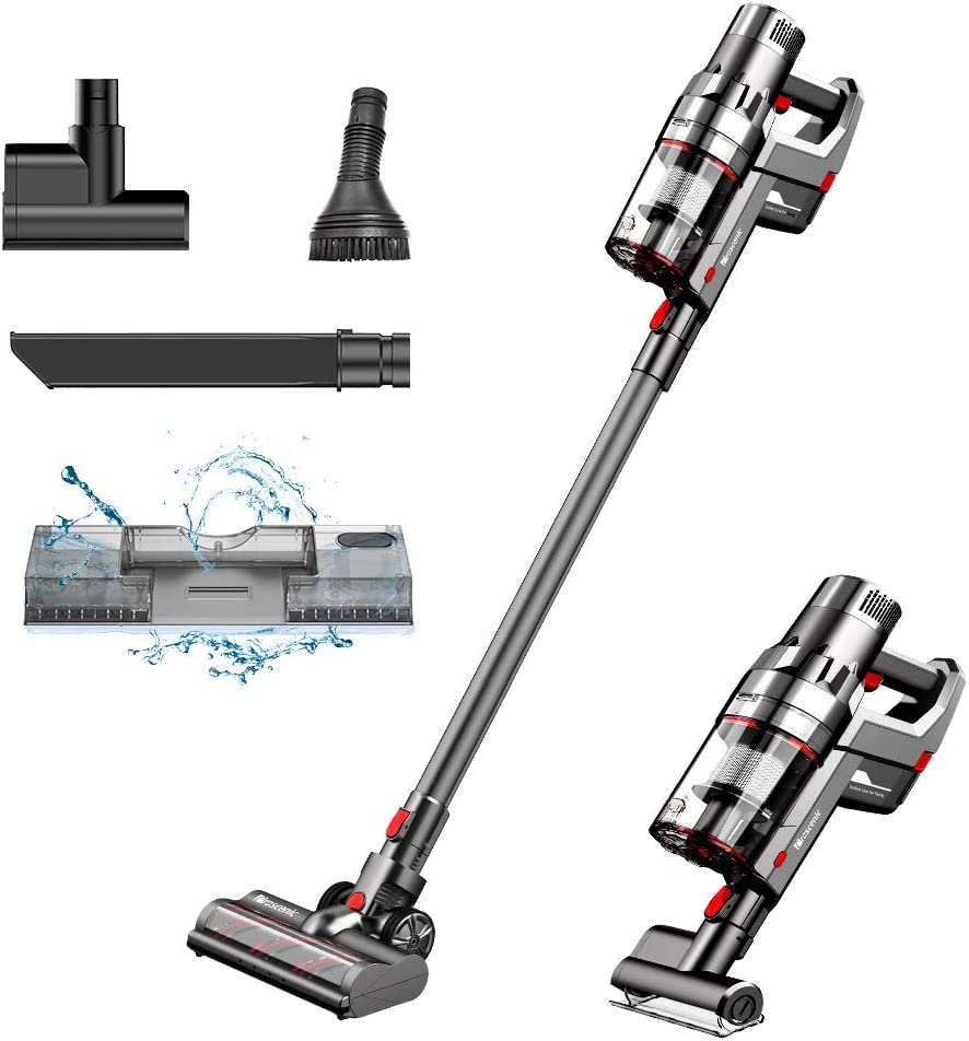 Proscenic P11 Cordless Vacuum Cleaner, Stick Handheld Vacuum with Mop, 25000pa Powerful Motor Touch Screen, Removable Battery, 3 Adjustable Suction Modes for Hard Floor/Carpet/Pet Hair/Floor Washing