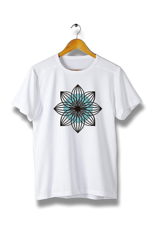 Modern Cool Tees for Men Kilsd Flower Shape Line T-Shirt Y286