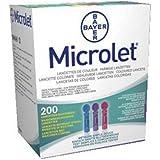 Bayer - Lancette Microlet, 200 unità