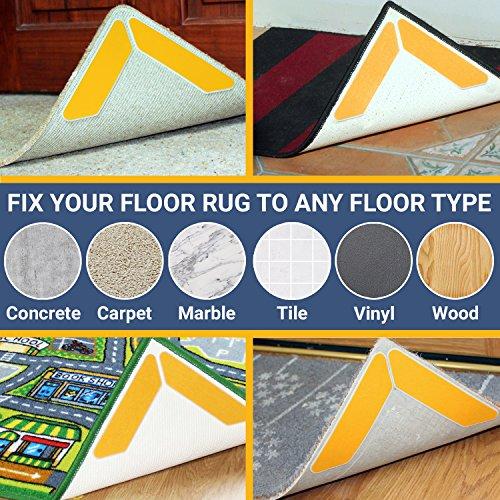 Kraftex Rug Gripper Tape Pads Anti Slip Non Skid Carpet Corners