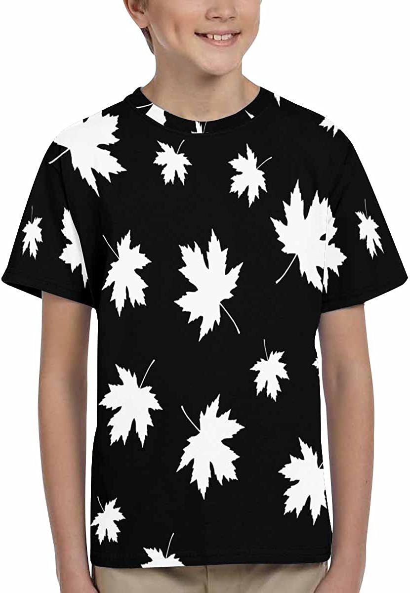 XS-XL INTERESTPRINT Kids T-Shirts Decorative Leaves