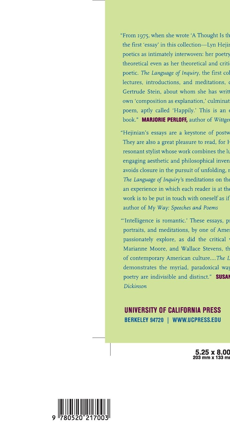 The Language of Inquiry by University of California Press