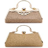 Women Clutch Evening Bag Elegant Beaded Shoulder Bag Luxurious Handbag Purse