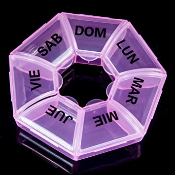 Amazon.com  Pill Cases Organizers 7 Day Round Pill Box a34f028d1485