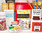 Book Lovers Writer Librarian Teacher Parent Love to Read Reader Gift Box Basket Birthday Christmas - High Caliber Mug, Retro Library Memo Cards, Premium Coffee & Tea, More! - Prime For Women Men