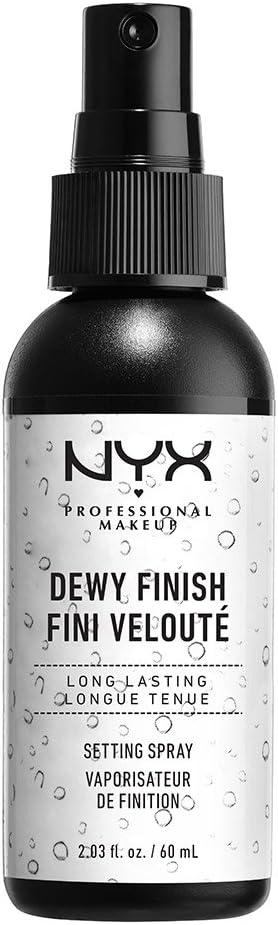 NYX Professional Makeup Spray fijador Makeup Setting Spray, Larga duración, Ligero, Fórmula vegana, Acabado Dewy (hidratado), 60 ml