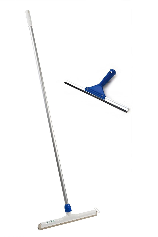 BawiTec Profi Hygiene-Wasserschieber mit Aluminiumstiel 140cm nach HACCP (Breite 45cm)