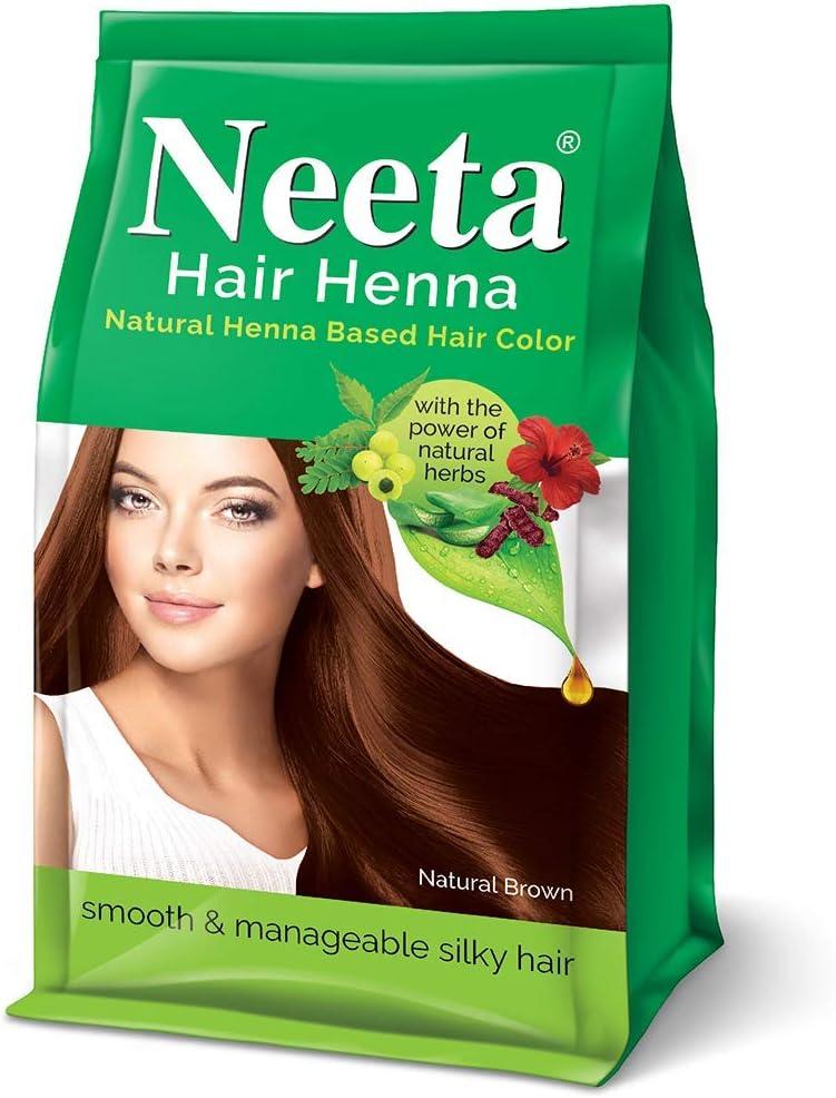Neeta Hair Henna - Tinte para cabello con base de henna, sin ...