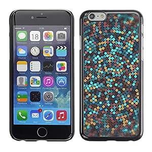 FlareStar Colour Printing Glitter Gold Bronze Blue Clean Awesome cáscara Funda Case Caso de plástico para Apple (5.5 inches!!!) iPhone 6 Plus