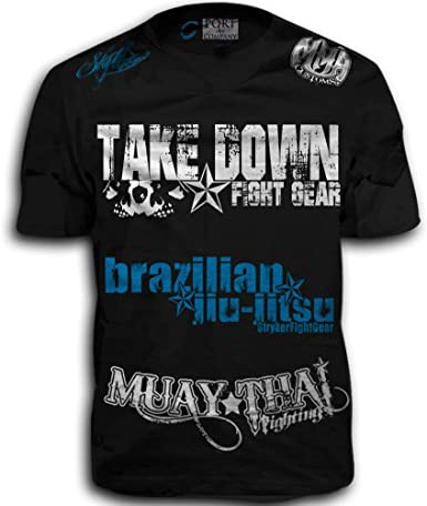 Amazon.com: Take Down Fight Gear Skull Muay Thai Fighting ...