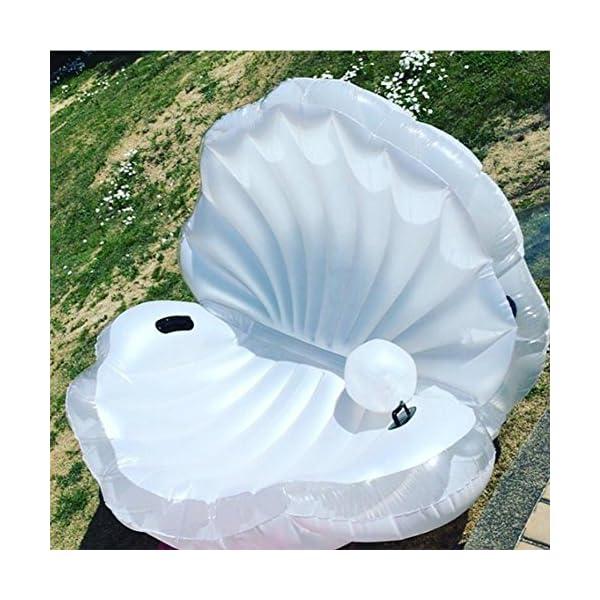 ZLYFA Piscina Gonfiabile di Bianco Shell per La Fila di Galleggiamento dell'Acqua della Chaise-Lounge della Sedia 5 spesavip