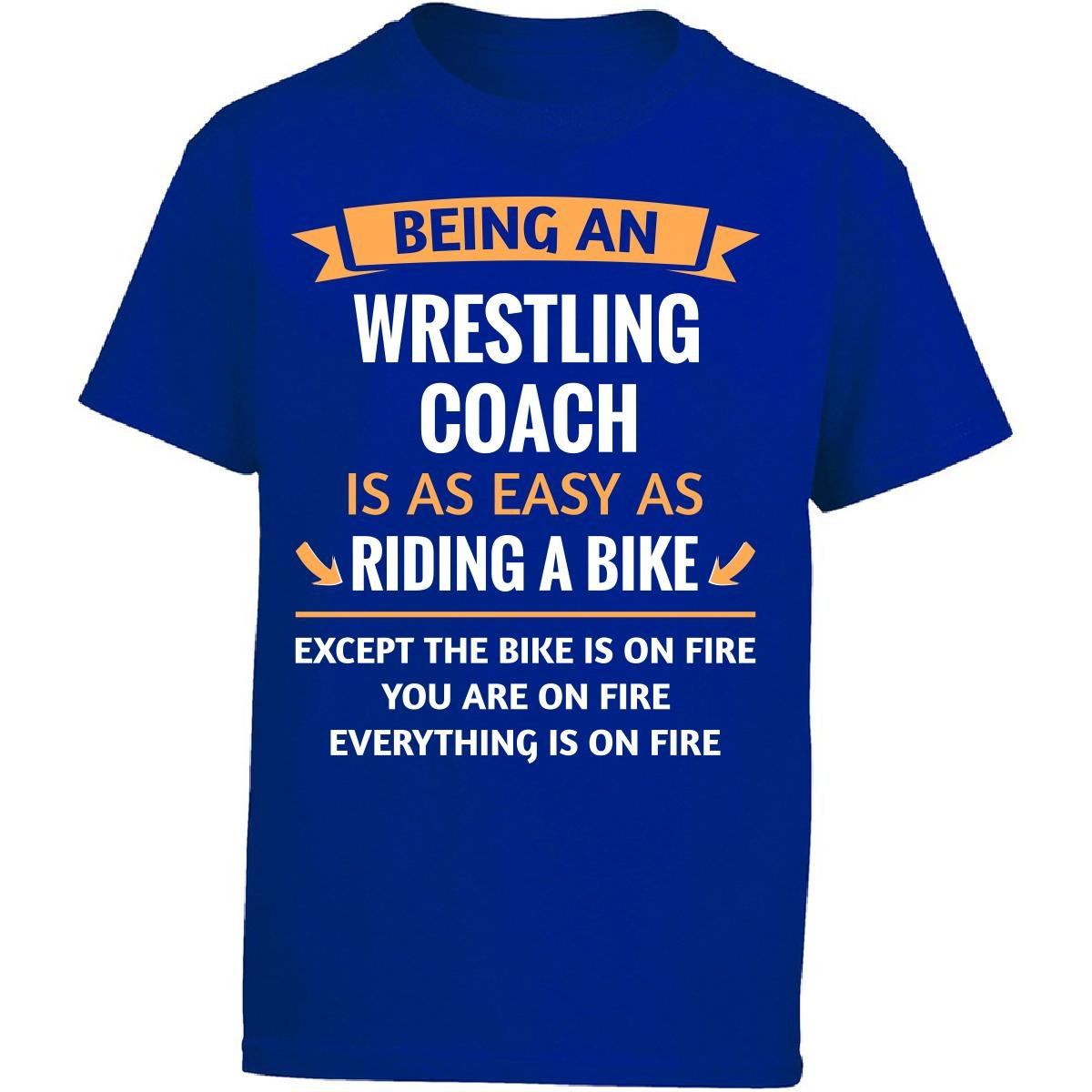 This Gift Rocks ! Being A Wrestling Coach Is Easy - Girl Kids T-shirt Kids L Royal