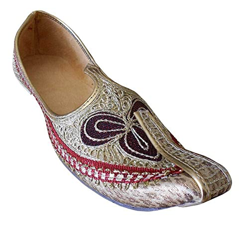 Ethnic Flip-Flops Wedding Sherwani Jooti Men Shoes Khussa Flat