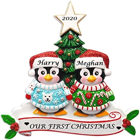 Amazon Com Holiday Treasures 2020 Personalized Ornament Ugly Sweater Penguins Couple Christmas Tree With Star Topper Ornament Handwritten Customized Decoration Wedding Ornament Free Personalization Home Kitchen Coconut tree illustration, arecaceae cartoon tree , palm tree cartoon transparent background png clipart. holiday treasures 2020 personalized