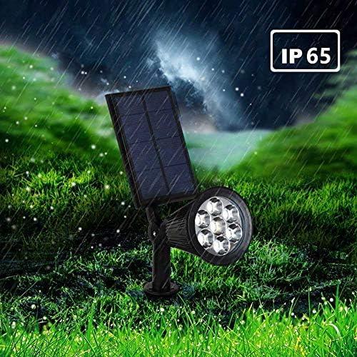 Xindaxin® Solar Gartenleuchten 7 Farben Superhelle Outdoor Spotlight LED IP55 Wasserdicht für Zaun Hinterhöfe Gärten Rasen,2 Stück