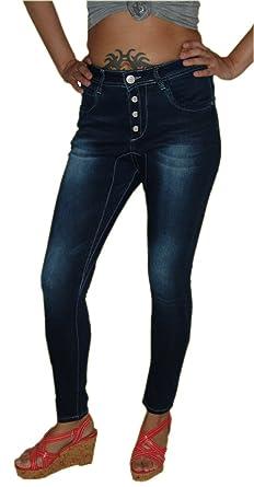 My Christy Damen Hochschnitt Stretch Jeans Hose