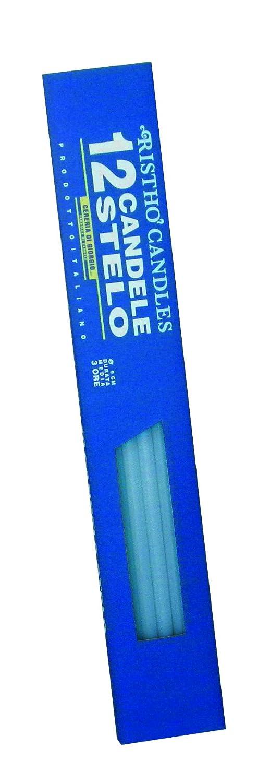 Cereria de Giorgio risthò Bougies Tige, Cire, Bleu Clair, 0.9x 37cm, 12unités Cereria di Giorgio 56212_05