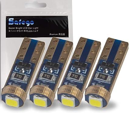 1 Pair Set of 2 pcs Instrument Gerneral T5 1 White LED Light Bulbs 2721 74