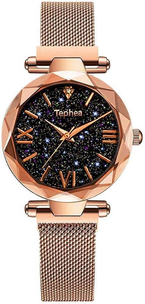 QFERW Reloj de Las señorasRelojes de Mujer Magnético Starry Sky Reloj Femenino Reloj de Pulsera de Cuarzo Reloj de Pulsera de Moda para Mujer Reloj Mujer relogio Feminino