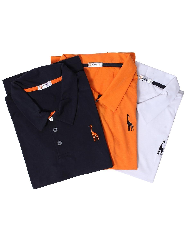 【H2H】 メンズ カジュアル ゴルフウェアー ファッション ベーシック 無地 スリームフィット ワンポイント 半袖 ポロシャツ B01KO4N5LM US 3XL (Asia 6XL)|SET3JDSK36-MULTI2 SET3JDSK36-MULTI2 US 3XL (Asia 6XL)