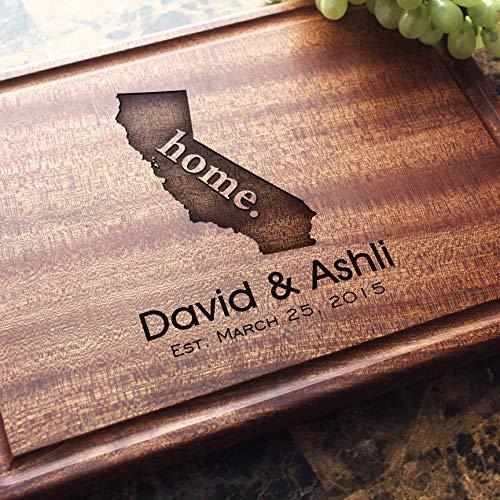 Personalized Cutting Board, Custom Keepsake, Engraved Serving Cheese Plate, Wedding, Anniversary, Engagement, Housewarming, Birthday, Corporate, Closing Gift #602