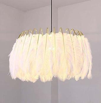 Fesselnd Feder Pendelleuchte Nordic Kreative Kronleuchter Wohnzimmer Esszimmer  Lernen Schlafzimmer Modell Kinder Modern Golden Warm Feder Kronleuchter