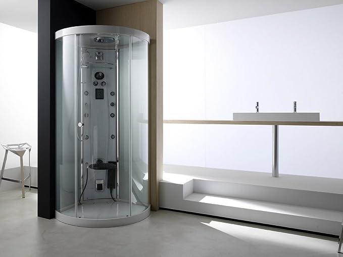 TEUCO Cabina de ducha multifunción light hidromasaje 90 x 90 cm ...