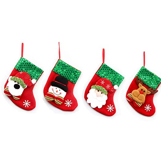 Watooma Deco Juego de 4 Fieltro de Botas de Navidad para ...