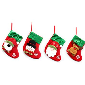 Amazon.com 2019 Christmas Tree Socks Decoration, 4Pcs Mini