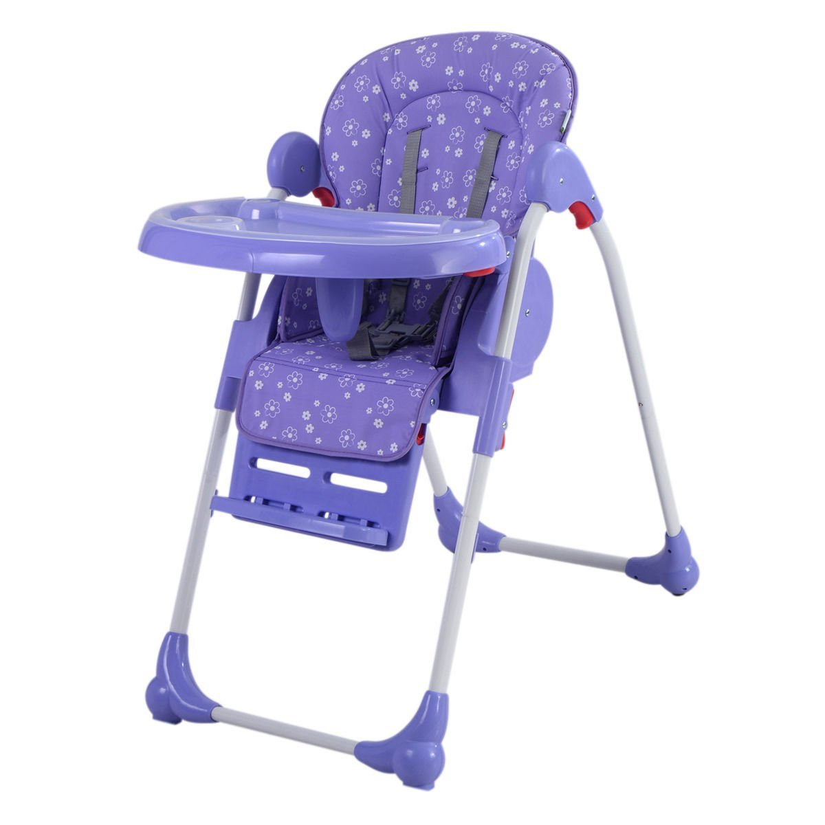 7eb46f3642d5 Amazon.com   Costzon Adjustable Baby High Chair Infant Toddler Feeding  Booster Seat Folding (purple)   Baby