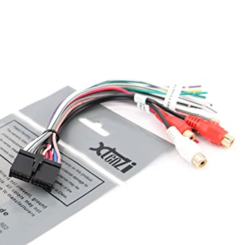 61DmqF1e4xL._SY355_ amazon com xtenzi 20 pin dual wire harness xdvd8180 xhd6420 xod1752bt wiring harness at soozxer.org