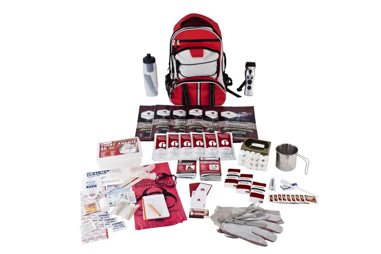 Guardian Survival Long Term Food Storage Emergency Kit, Red Backpack by Guardian Survival Gear (Image #1)