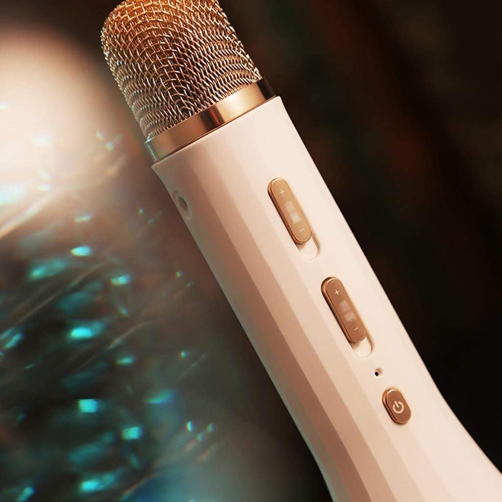 Color : Microphone LEZDPP Wireless Bluetooth Microphone Audio One Mobile Phone Singing Artifact Children KTV Microphone Intelligent Noise Reduction