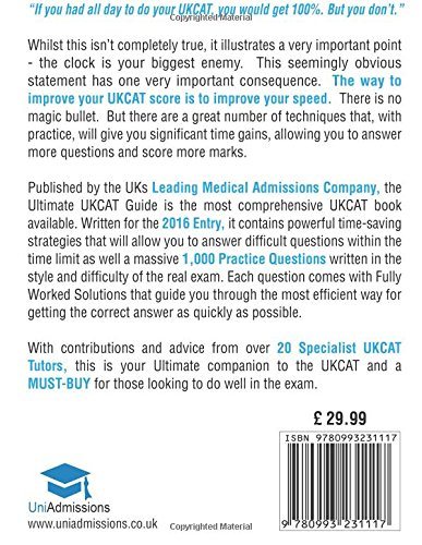 The Ultimate UKCAT Guide: 1000 Practice Questions: Fully Worked