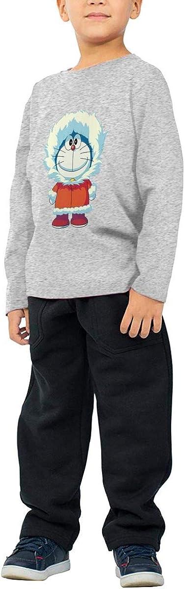 GongCZL Art Doraemon The Polar Decoration Shirt for Baby Boys Girls Black