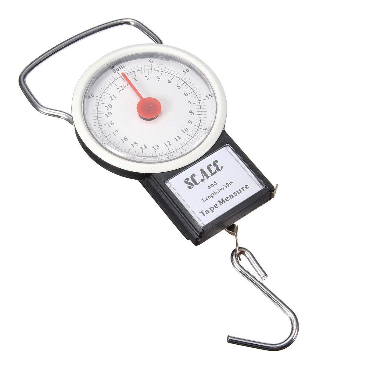 Báscula para pesar pescado, hasta 22 kg, gancho para colgar, con 1 m de cinta métrica, báscula para equipaje, por HomeElabador: Amazon.es: Deportes y aire ...