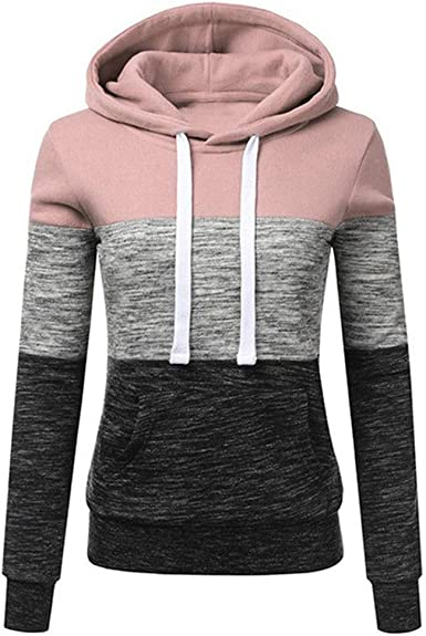 x8jdieu3 Otoño suéter Camisa de Mujer Sudadera con Capucha de Manga Larga Camisa de Mujer Casual Color a Juego con Capucha Sudadera con Capucha: Amazon.es: Ropa y accesorios